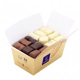 Leonidas - Assortiment de chocolats moitié blanc moitié mélange - Ballotin de 250gr - Leonidas Warneton (B)