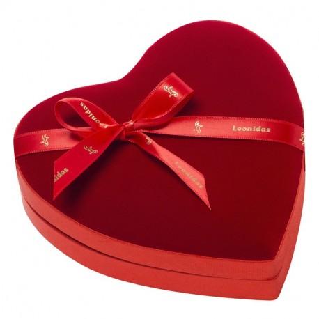 Leonidas - Coeur velours garni de 14 chocolats Leonidas assortis - Leonidas Warneton