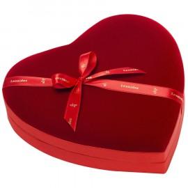 Leonidas - Coeur velours garni de 22 chocolats Leonidas - Leonidas Warneton
