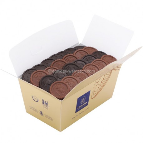 Leonidas - Ballotin Caraques en chocolats noir et lait - Leonidas Warneton (Belgique)