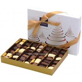 Leonidas - Coffret cadeau Spécial Noël / Nouvel An garni de 44 chocolats assortis - Leonidas Warneton (B)