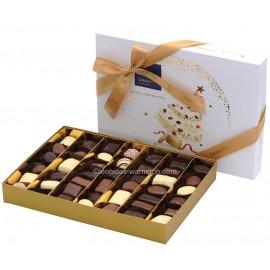 Leonidas - Coffret spécial Noël / Nouvel An garni de 44 chocolats assortis (gamme Tradition) - Leonidas Warneton (B)