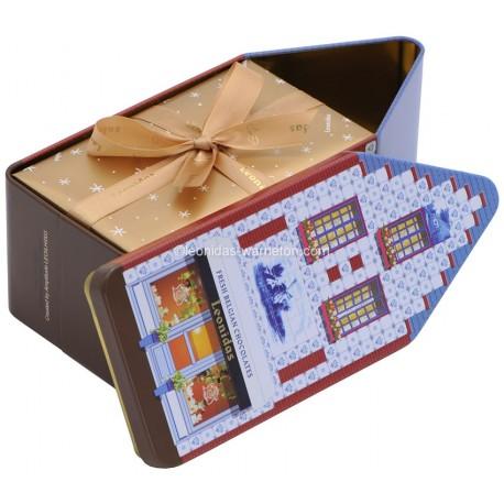 Leonidas - Coffret (Maison belge) et son ballotin de 500gr de chocolats - Leonidas Warneton (B)