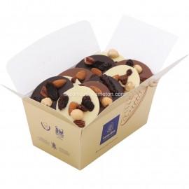 Leonidas -Mendiants Cacher (Casher, Kasher) en chocolat noir, lait, blanc - Ballotin de 250gr - Leonidas Warneton (B)