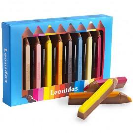 Leonidas - Crayons en Chocolat au Lait (8 pcs) - Leonidas Warneton (B)