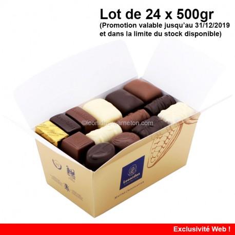 Leonidas - Lot de 24 ballotins de 500gr Mélange Tradition 500gr 24pcs - LEonidas Warneton (B)