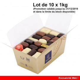 Leonidas - Lot de 10 ballotins de 1kg - Mélange Tradition - Leonidas Warneton (B)
