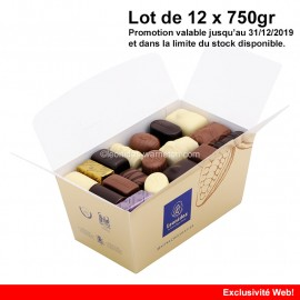 Leonidas - Lot de 12 ballotins de 750gr Mélange Tradition - Leonidas Warneton (B)