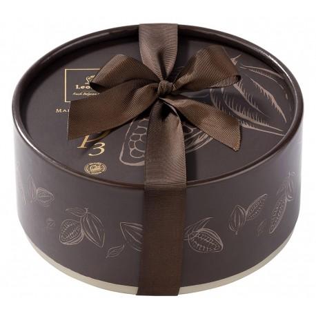 Leonidas - Coffret Dora garni de 60 boules de Noël en chocolat noir, lait, blanc - Leonidas Warneton (B)