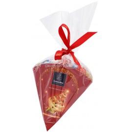 Leonidas - Cornet de 24 boules de Noël en chocolat noir, lait, blanc assortis (280gr) - Leonidas Warneton (B)