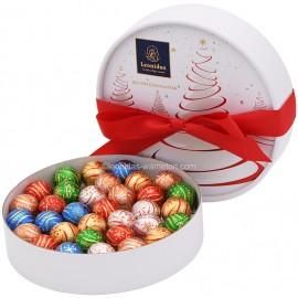 Leonidas - Coffret cadeau Spécial Noël garni de 33 boules de Noël assorties - Leonidas Warneton (B)