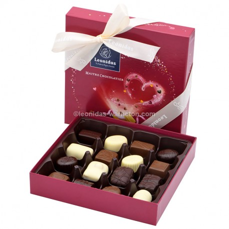 Leonidas Coffret de Saint Valentin garni de 16 chocolats assortis - Leonidas Warneton (B)