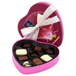 Leonidas - Coffret de Saint Valentin garni de 9 chocolats - Leonidas Warneton (B)