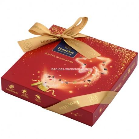 Leonidas - Coffret Santiago Spécial Noël garni de 16 chocolats Leonidas assortis - Leonidas Warneton (B)