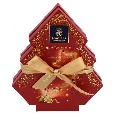 Leonidas - Coffret cadeau Spécial Noël garni de 11 chocolats assortis - Leonidas Warneton (B)