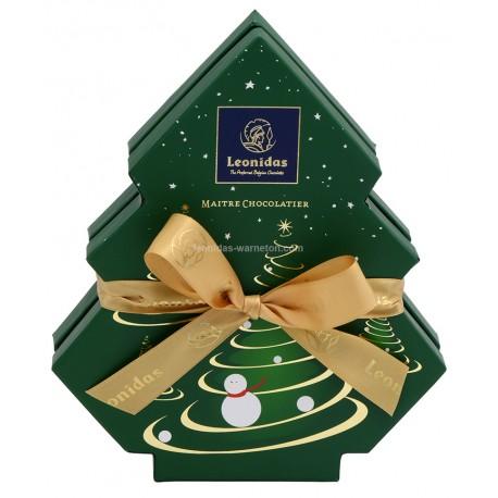 Leonidas - Coffret Sapin de Noël garni de 12 chocolats assortis - Leonidas Warneton (B)