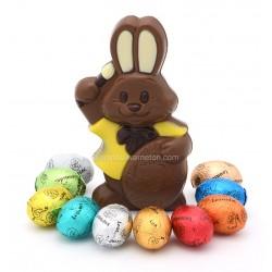 Leonidas - Lapin en chocolat au lait et 10 petits œufs de Pâques - Leonidas Warneton (B)