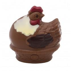 Leonidas - Poule en chocolat au lait tricolore (100gr) - Leonidas Warneton (B)