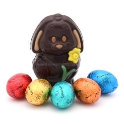Leonidas - Lapin noir quadricolore et 5 petits œufs de Pâques - Leonidas Warneton (B)