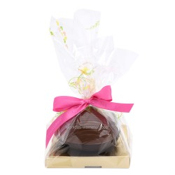 Leonidas - Œuf de Pâques composé de deux demi coquilles en chocolat noir et lait garni de 10 petits œufs de Pâques assortis