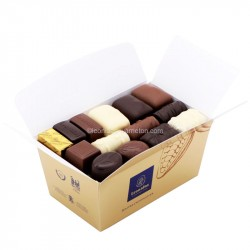 Leonidas - Ballotin - Assortiment de Chocolats Cacher (Casher, Kasher) noir, lait, blanc - Leonidas Warneton (Belgique)