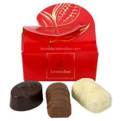 Leonidas - Mini ballotin de 3 chocolats noir, lait et blanc - Leonidas Warneton (Belgique)