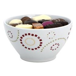 Bol en porcelaine garni de 300gr de chocolats Leonidas - Leonidas Warneton (Belgique)