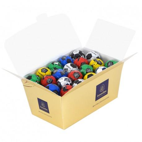 Leonidas - Assortiment de ballons de foot en chocolat - Ballotin de 500gr  - Leonidas Warneton (Belgique)