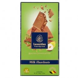 Leonidas - Tablette de chocolat au lait et aux noisettes  (100gr) - Leonidas Warneton (Belgique)