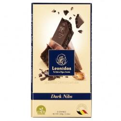 Leonidas - Tablette de chocolat noir Nibs (100gr) - Leonidas Warneton (Belgique)