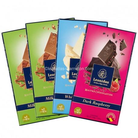 Leonidas - Pack de 4 tablette de chocolat  (4x100gr) - Leonidas Warneton (Belgique)