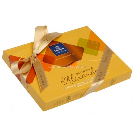 Coffret de 12 chocolats Leonidas au caramel
