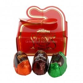 Mini ballotins de 3 chocolats Leonidas à la liqueur