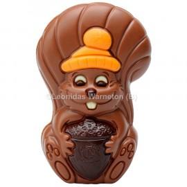 Ecureuil en chocolat au lait creux Leonidas (75gr)