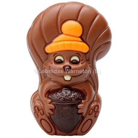 Ecureuil en chocolat au lait creux Leonidas (50gr)