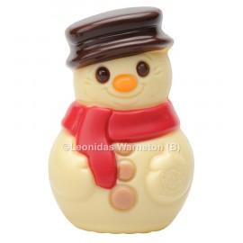 Bonhomme de neige en chocolat blanc