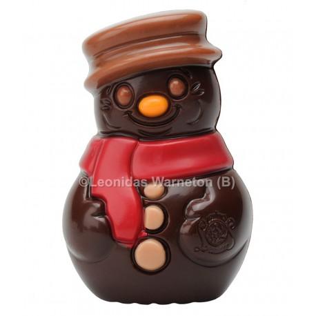 Bonhomme de neige en chocolat noir