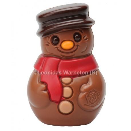 Bonhomme de neige en chocolat au lait