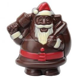 Leonidas - Père Noël en chocolat creux noir (100gr) - Leonidas Warneton (B)