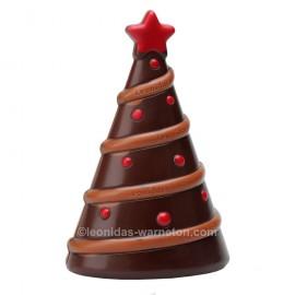 Sapin de Noël en chocolat creux noir (100gr)