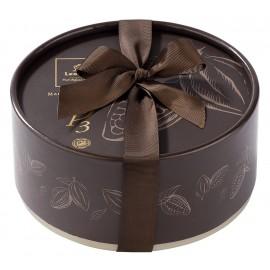 Coffret Dora MARRON garni de 22 chocolats Leonidas
