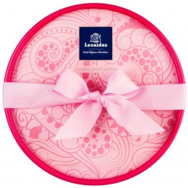 Coffret Dora ROSE garni de 22 chocolats Leonidas