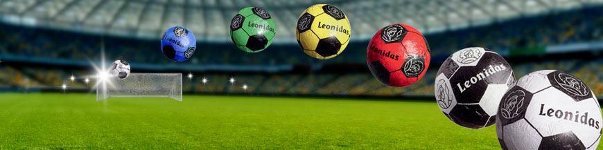 Leonidas- Petits ballons de foot en chocolat - LEonidas Warneton (Belgique)