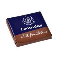 Leonidas - Chocolat au lait - Napolitain feuilletine - Leonidas Warneton (B)