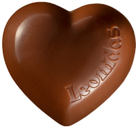 Leonidas - Saint Valentin - Petit cœur en chocolat vanille